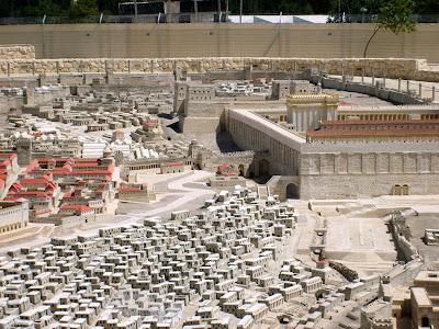 Maqueta a escala de Jerusalén en la época del Segundo Templo - Museo de Israel, Jerusalén, Israel