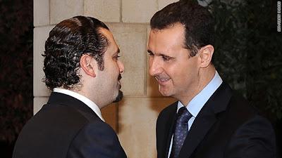 Saad Hariri y Bashar Assad
