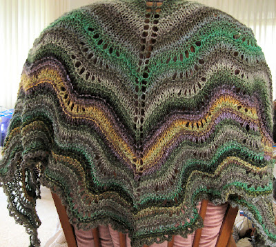 and Fan Comfort Shawl by Sarah Bradberry. The Pattern is free