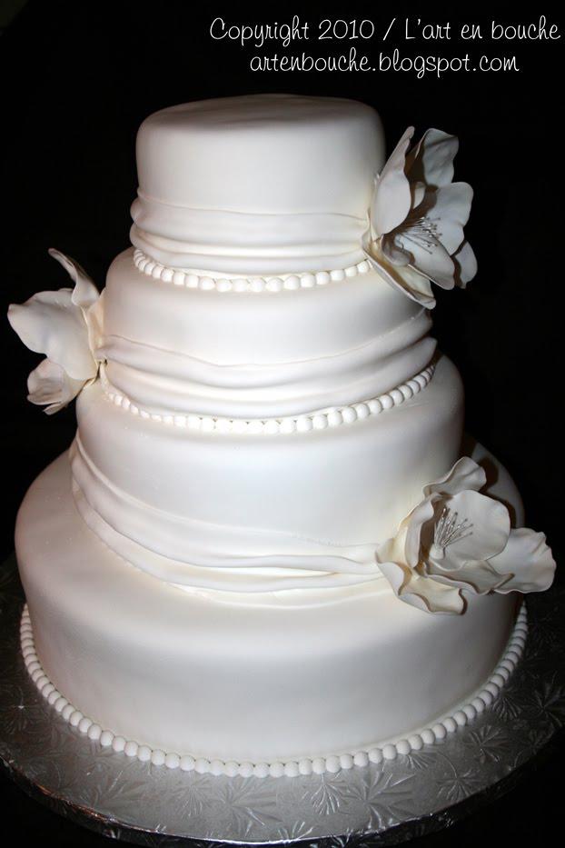 art en bouche...: Gâteau de mariage blanc #1