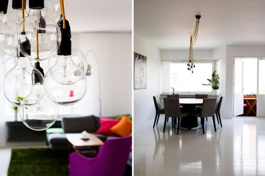 La maison d 39 anna g lampes au pluriel - Suspension plusieurs lampes ...