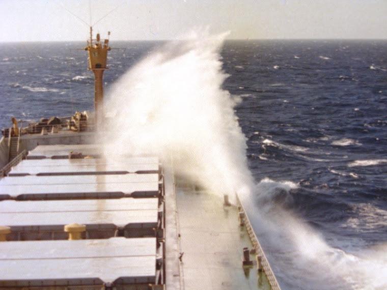 ... a navegar no Pacífico...