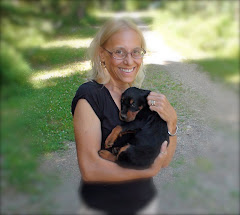 Karen with 6 week old Gordon Setter Puppy