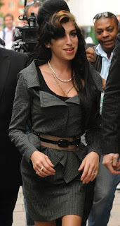 Amy Winehouse dresses up for a recent court appearance.