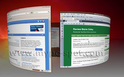 Desktop 3D Silinder di Ubuntu