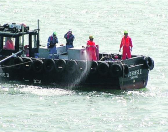 wild shores of singapore: Oil spill exercise near Cyrene