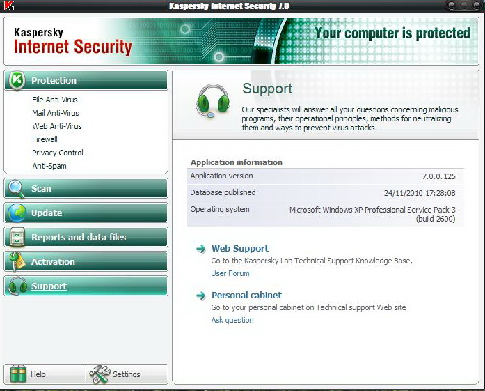 Kaspersky Internet Security 7.0.0.125 + Crack Until 2025.