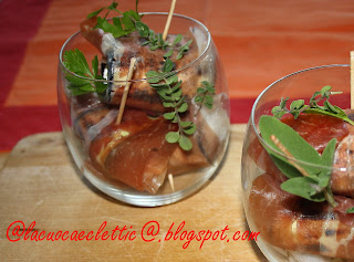 Involtini di melanzane e prosciutto