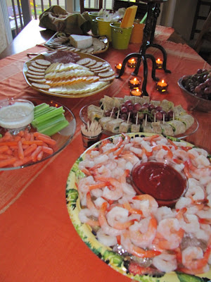 birthday party food table