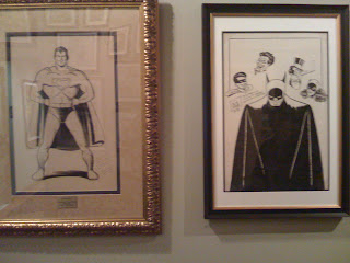 Original art by the creators of Superman and Batman