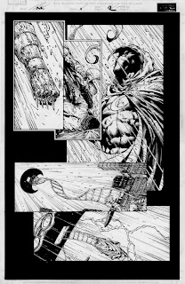 Moon Knight original art page