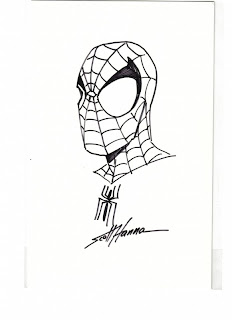 Spider-Man sketch by Scott Hanna