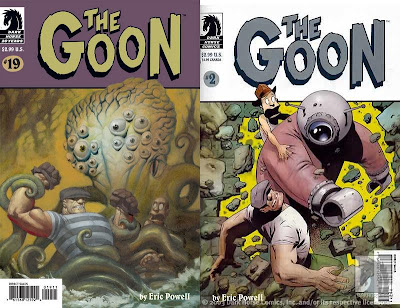 Two covers of The Goon