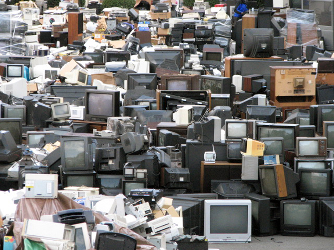 computers in trash