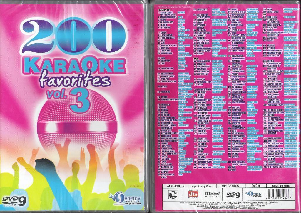 Sing Karaoke: 200 KARAOKE FAVORITES ( VOLUME 3)