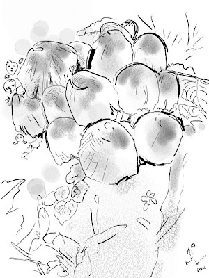 Drawing mushrooms doesn't really work for me.