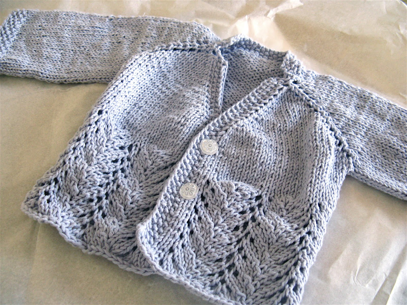 blissful: Top down sweater for a baby girl