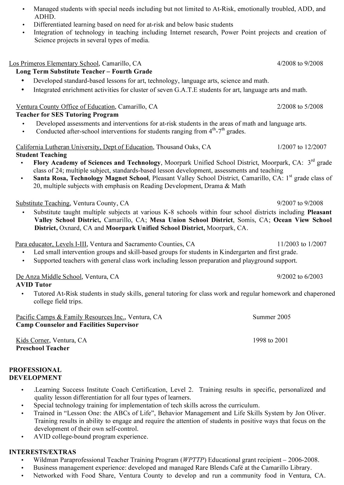 esl teacher resume and cover letter