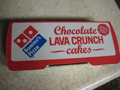 Domino's Chocolate Lava Crunch Cakes box