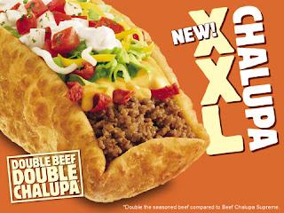 Taco Bell new XXL Chalupa
