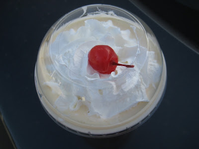 Jack in the Box Egg Nog Ice Cream Shake top view