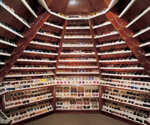 Elton Johns Glasses Closet