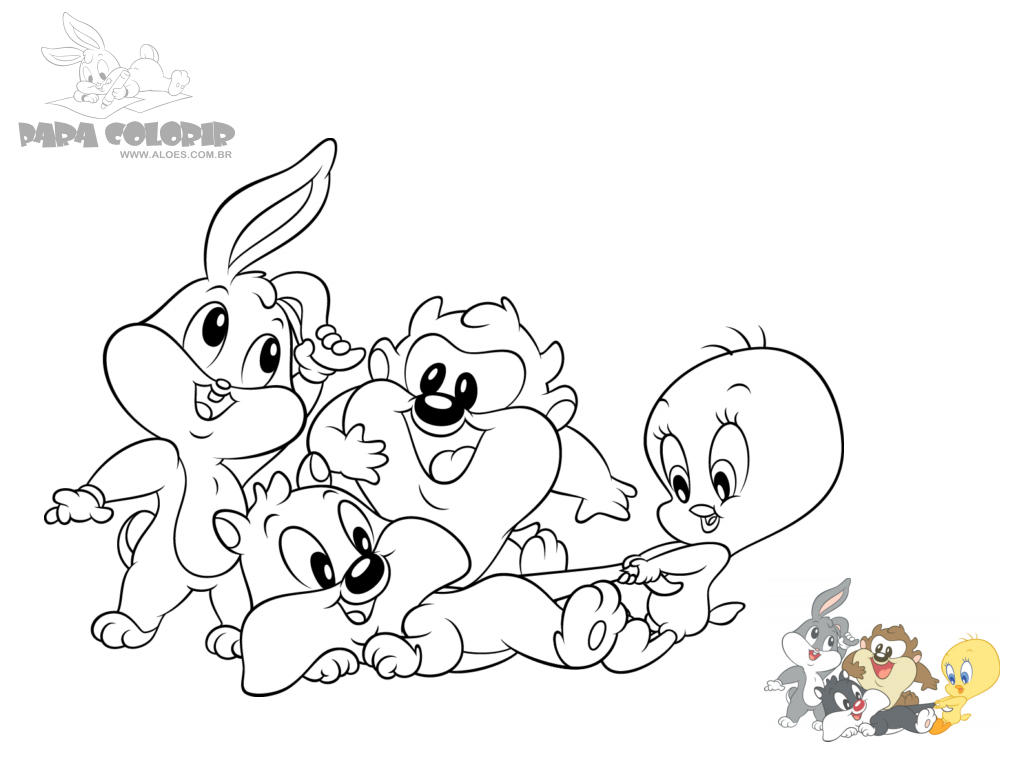 Baby looney tunes coloring pages roadrunner