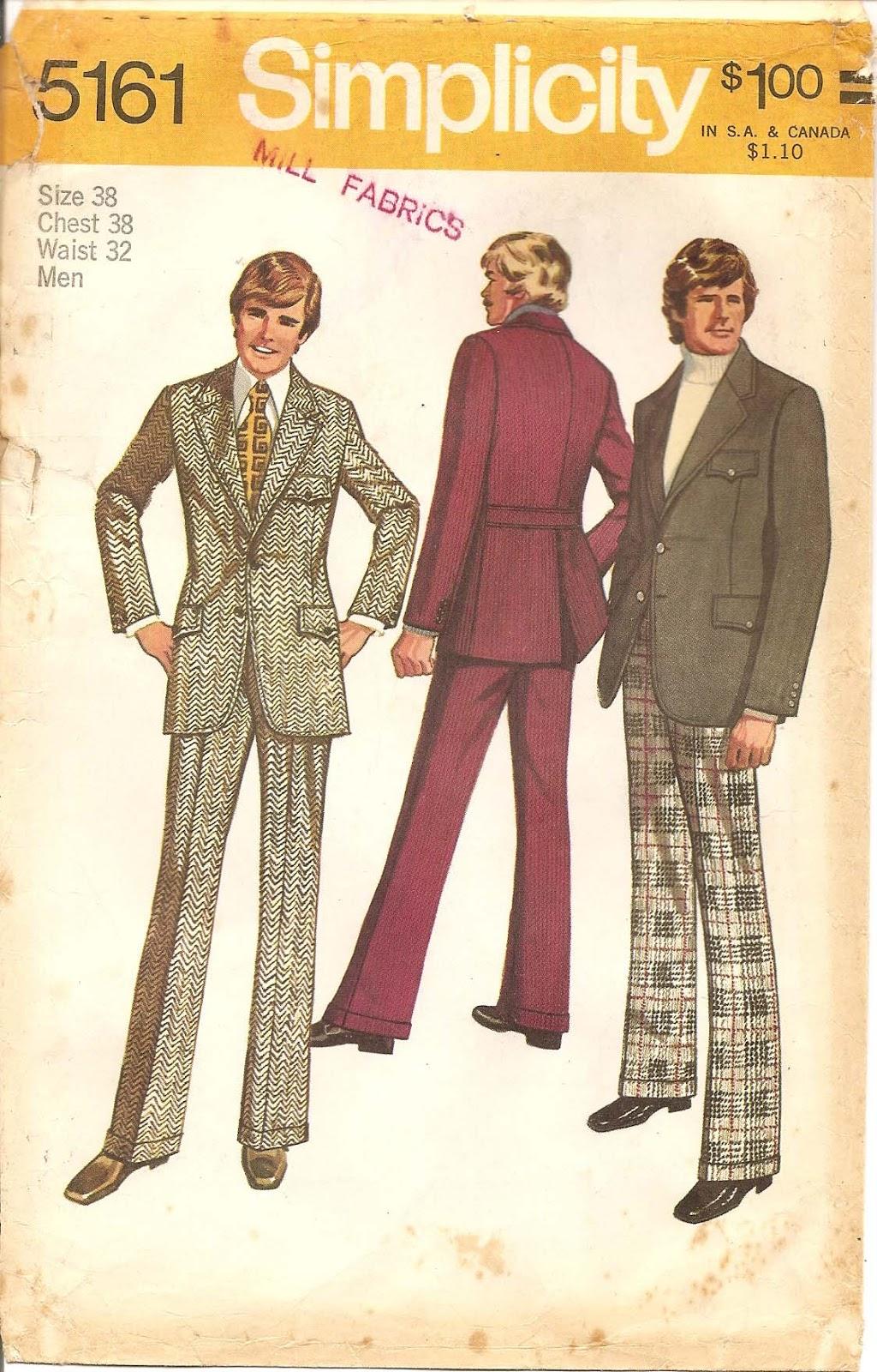 ct studios vintage 1970s mens sewing patterns a stroll down memory lane. Black Bedroom Furniture Sets. Home Design Ideas