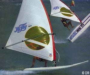 Planche à voile Hifly lancée par Pierre-Yves Gires en Europe - 1978 à 1984
