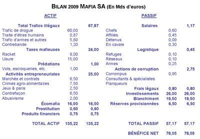 Bilan 2009 de l'entreprise MAFIA SA