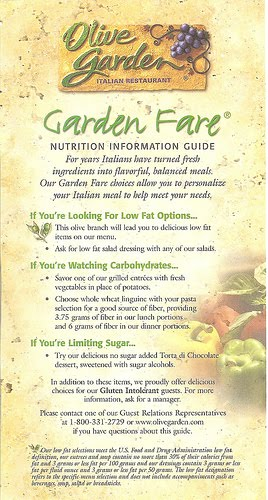 Olive Garden Nutritional Info Home Design Ideas And Pictures