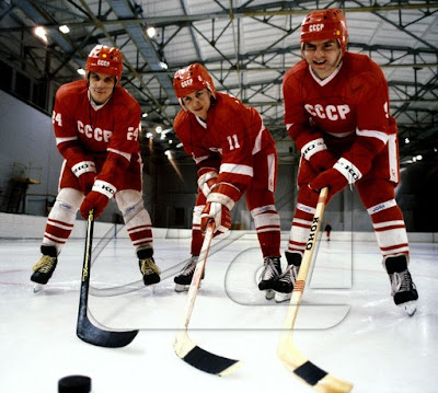 Sergei Makarov, Igor Larionov y Vladimir Krutov