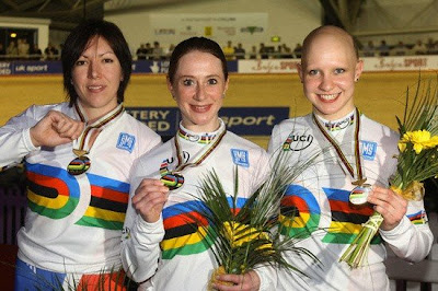Manchester 2008 - Rebecca Romero, Wendy Houvenaghel y Joanna Rowsell