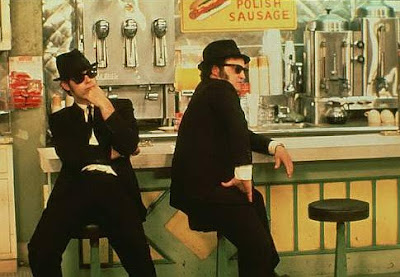 Dan Aykroyd y John Belushi, los Blues Brothers