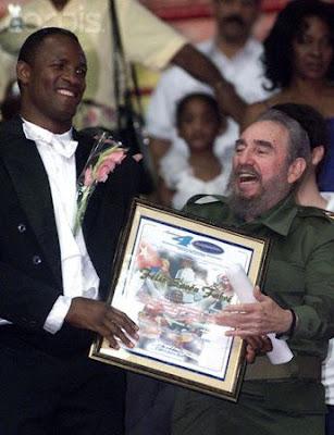 Félix Savón y Fidel Castro