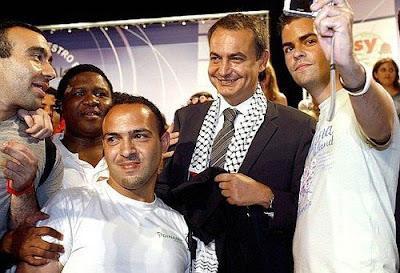 Zapatero con el pueblo de Palestina