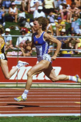 Marita Koch en Canberra 1985