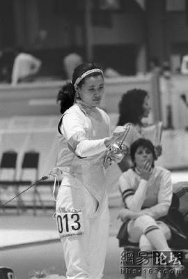 Los Angeles 1984 - Luan Jujie, oro en florete individual