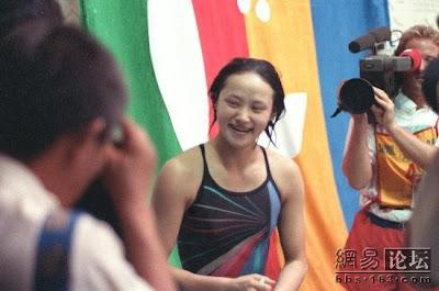 Seúl 1988 - Gao Min, campeona en salto de trampolín