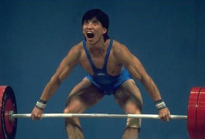 Seúl 1988 - Ye Huanming, medalla de bronce en halterofilia (-60 kg)
