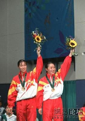 Atlanta 1996 - Ge Fei y Gu Jun, campeonas de dobles en badminton