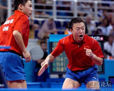 Atenas 2004 - Chen Qi y Ma Lin, campeones de dobles en tenis de mesa