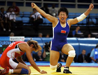 Atenas 2004 - Wang Xu, campeona de lucha grecorromana (-52 kg)