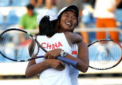 Atenas 2004 - Li Ting y Sun Tian, oro en dobles femeninos de tenis