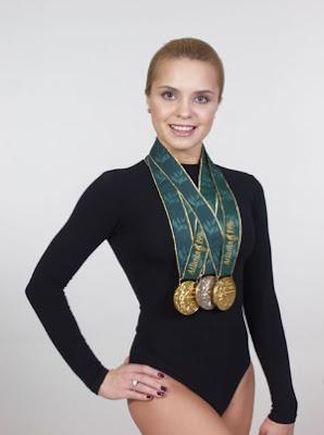 Lilia Podkopayeva, campeona olímpica de gimnasia artística