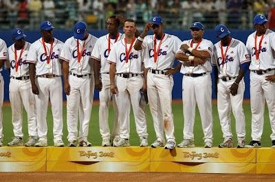 Equipo de Cuba, subcampeón olímpico de béisbol