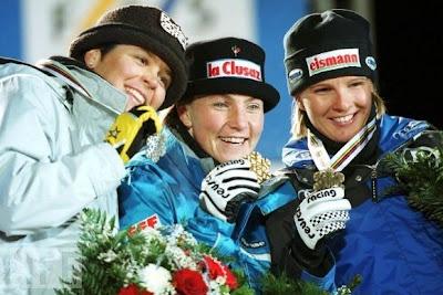 Isolte Kostner, Régine Cavagnoud e Hilde Gerg