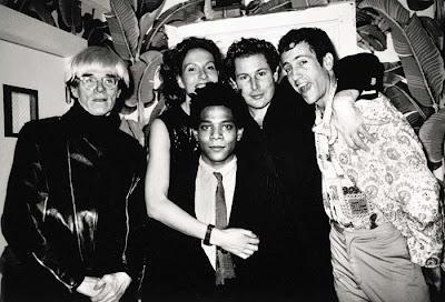 Andy Warhol, Jacqueline Schnabel, Jean-Michel Basquiat, Julian Schnabel y Kenny Scharf