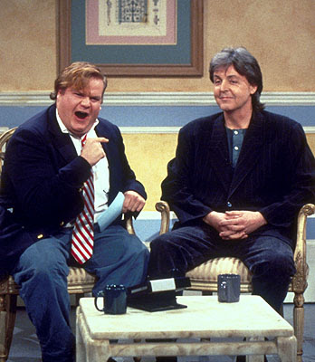Chris Farley y Paul McCartney