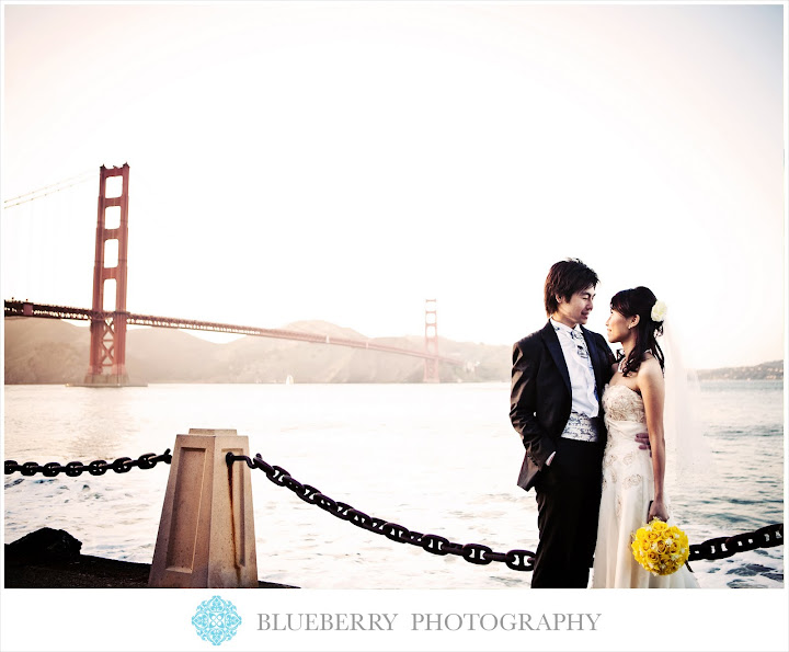 san francisco golden gate bridge bridal portraits